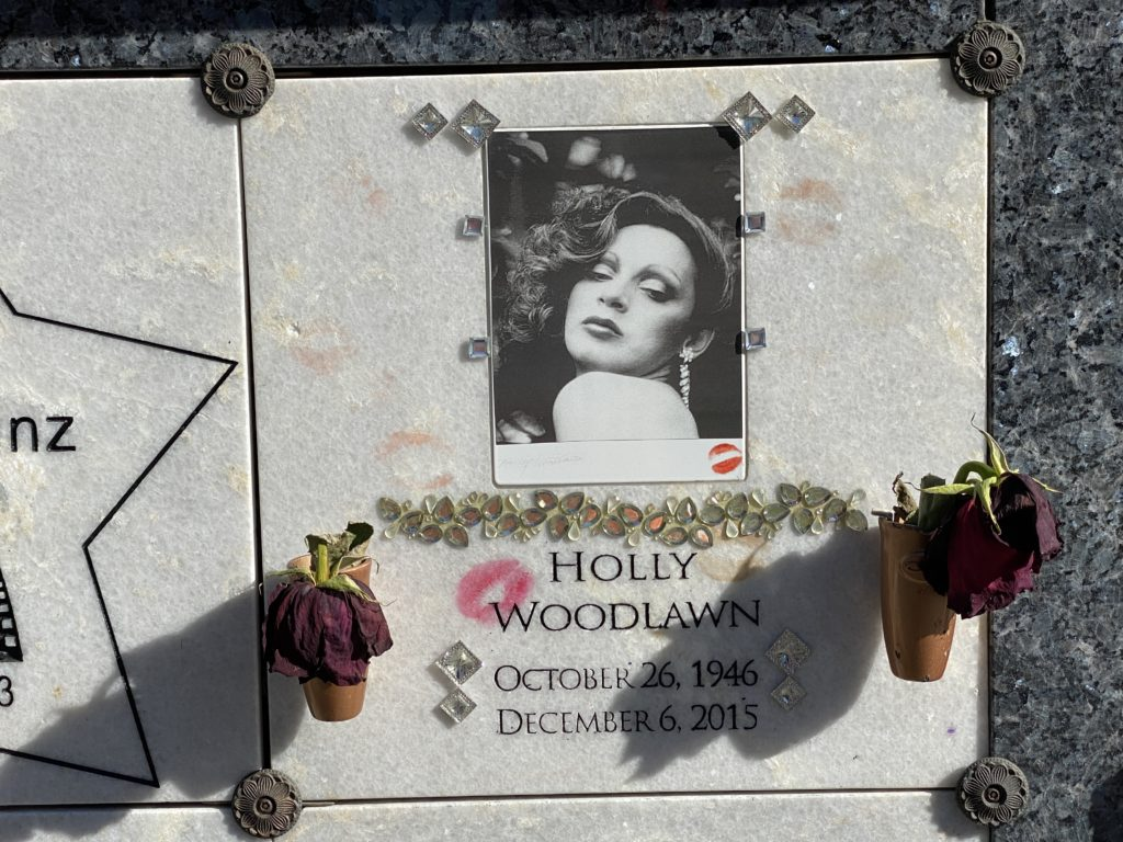 Holly Woodlawn grave marker.